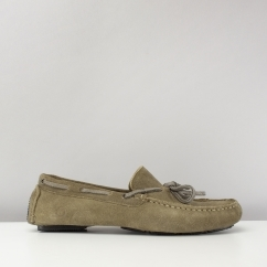 Chatham RILEY II Mens Suede Moccasin Driving Shoes Khaki Green