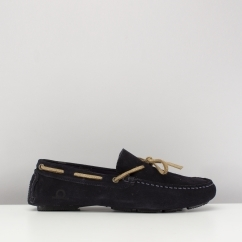 Chatham RILEY II Mens Suede Moccasin Driving Shoes Navy Blue