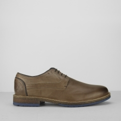 Chatham RUBIN Mens Smooth Leather Derby Shoes Brown
