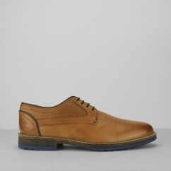 Chatham RUBIN Mens Smooth Leather Derby Shoes Tan