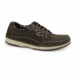 RYDER Mens Nubuck Casual Trainers Coffee