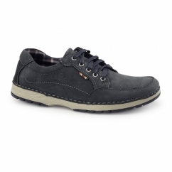 RYDER Mens Nubuck Casual Trainers Navy