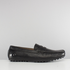 Chatham TOGA Mens Leather Moccasin Driving Shoes Black