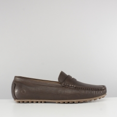 Chatham TOGA Mens Leather Moccasin Driving Shoes Brown
