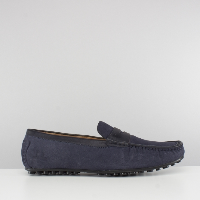 774783ef516f TOGA Mens Suede Moccasin Driving Shoes Navy