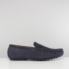 Base London TOGA Mens Suede Moccasin Driving Shoes Navy