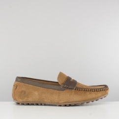 Chatham TOGA Mens Suede Moccasin Driving Shoes Tan