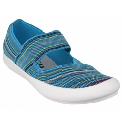 Cotswold CHEDWORTH Ladies Canvas Slip-On Shoes Multi/Blue