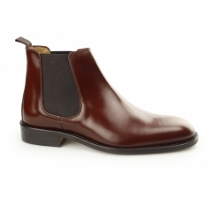 CHELSEA Mens Polished Leather Welted Sole Boots Tan Brown