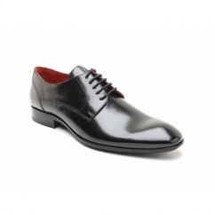 CHIEF Mens Waxy Leather Lace Up Shoes Black