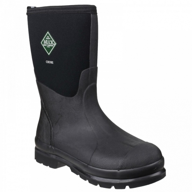 Muck Boots CHORE MID Unisex Waterproof Work Wellington Boots Black
