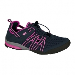 CHRISTINA Ladies Mesh Toggle Sports Sandals Navy/Pink