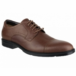 CITY SMART CAP TOE Mens Leather Lace Shoes Tan