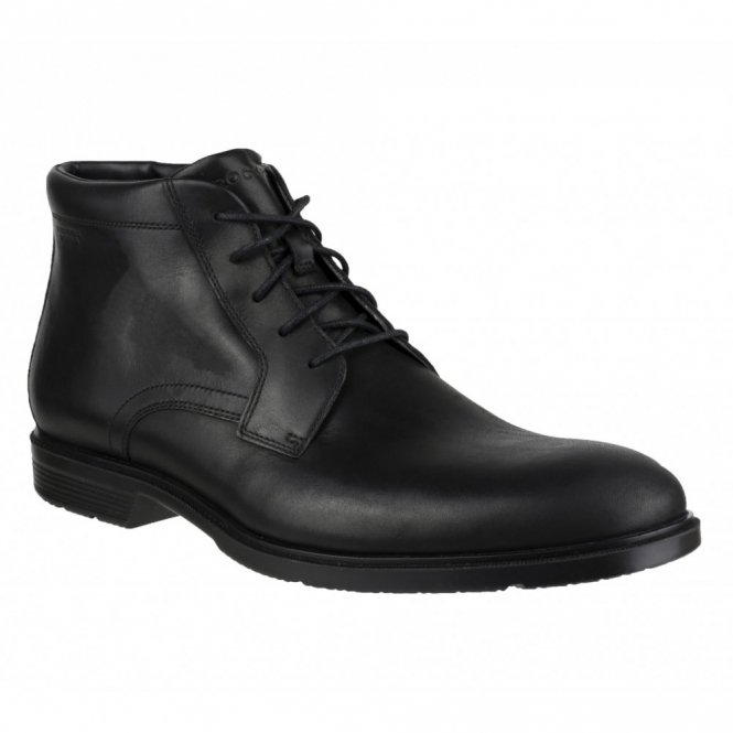 Rockport CITY SMART Waterproof Mens Leather Chukka Boot Black
