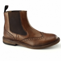 CLARENCE Mens Goodyear Welted Dealer Boots Brown