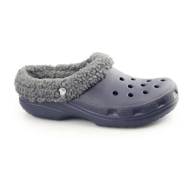 Crocs CLASSIC MAMMOTH LINED Unisex Warm Lined Croslite Clogs Navy/Charcoal