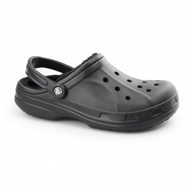 Crocs CLASSIC WINTER Unisex Warm Lined Croslite Clogs Black