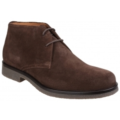 GEOX CLAUDIO Mens Leather Casual Desert Boots Cigar