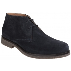 GEOX CLAUDIO Mens Leather Casual Desert Boots Navy