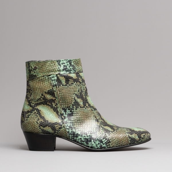 Club Cubano Emmanuel Mens Snakeskin Leather Cuban Heels