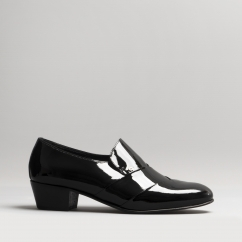 048160cb2 Club Cubano RICO Mens Patent Leather Cuban Heel Shoes Black