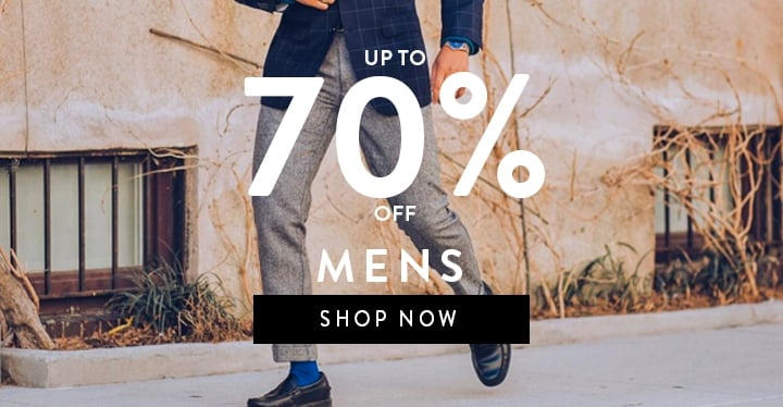 Up to 70% off mens
