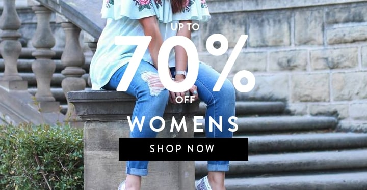Up to 70% off womens