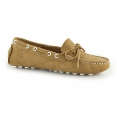 Chatham COCO Ladies Leather Nubuck Driving Deck Shoes Tan
