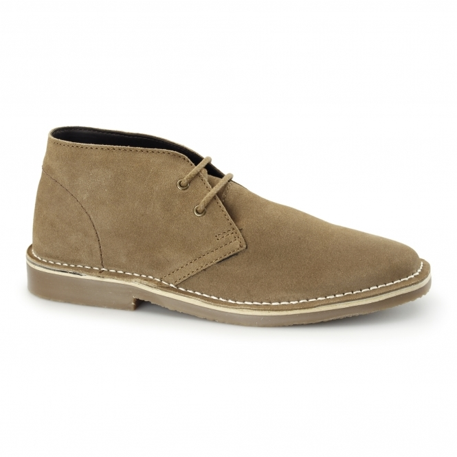 Roamers COLIN Mens Suede Leather Desert Boots Beige