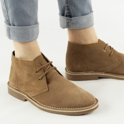 COLIN Mens Suede Leather Desert Boots Sand