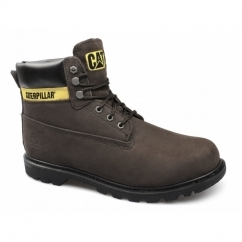 COLORADO Mens Nubuck Leather Lace-Up Boots Chocolate