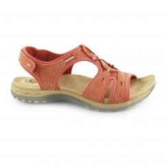 COLUMBIA Ladies Leather Open Toe Sandals Coral