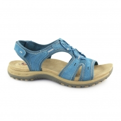 COLUMBIA Ladies Leather Open Toe Sandals Turquoise