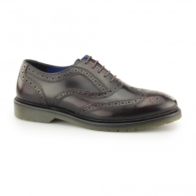 Red Tape COLWORTH Mens Leather Oxford Brogues Bordo