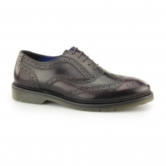 COLWORTH Mens Leather Oxford Brogues Bordo