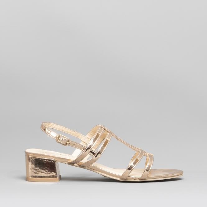 3e2ed02de50 Comfort Plus KAROL Ladies Wide Fit Block Heel Sandals Rose Gold ...