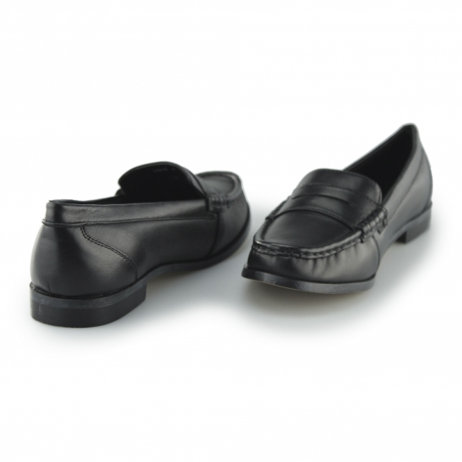 a1d1a2203ab Comfort Plus MICHAELA Ladies Leather Wide Fit Loafer Shoes Black