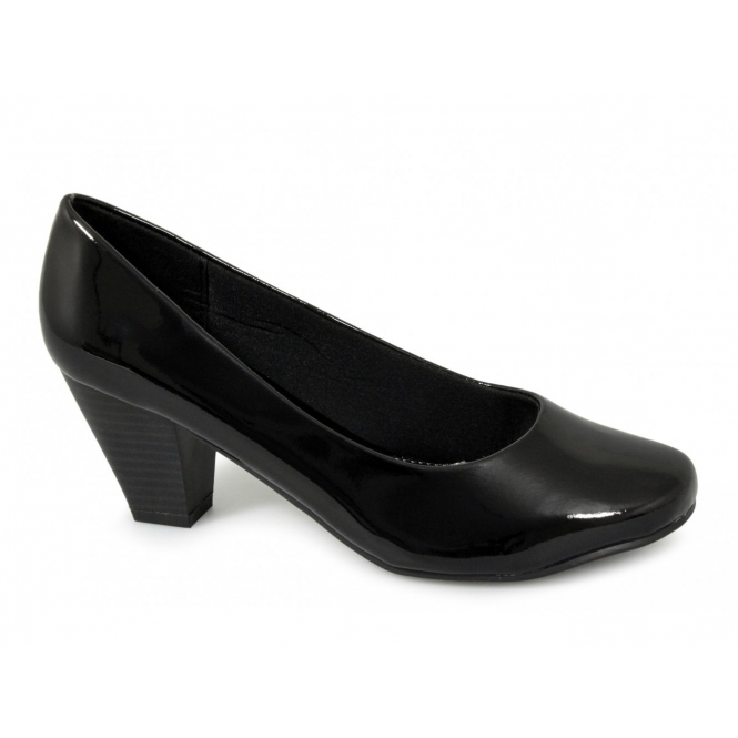 b4be3857ce Comfort Plus PAULA Womens Shoes Patent Black | Buy At Shuperb