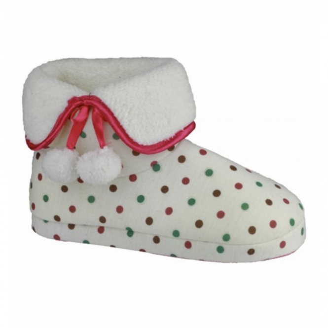 Divaz COPENHAGEN Ladies Bootie Slippers Cream