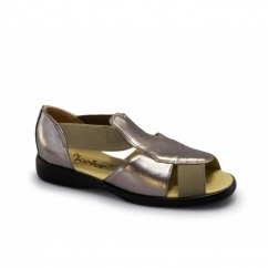 CORDELIA Womens Slip On Lightweight Extra Fit Sandals Pewter Grey