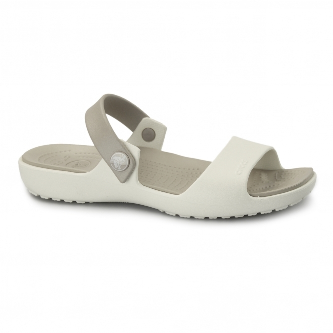 Crocs CORETTA Ladies Croslite Mule Sandals Oyster/Platinum