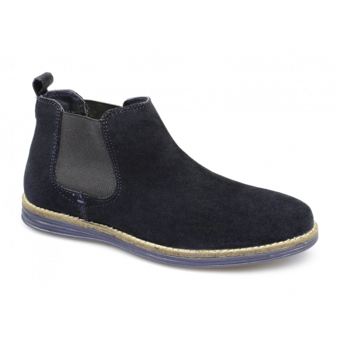Red Tape CORRAN Mens Suede Leather Chelsea Boots Navy