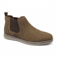 CORRAN Mens Suede Leather Chelsea Boots Tan