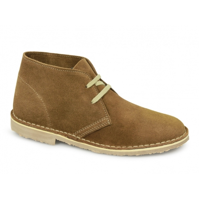 ASHLEY Womens 2 Eyelet Desert Boots Taupe