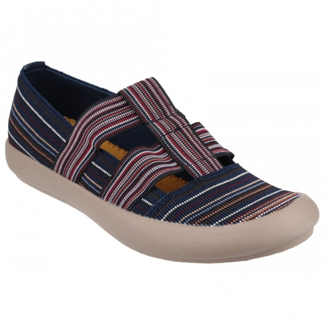 Cotswold CROMPTON Ladies Canvas Slip-On Shoes Navy