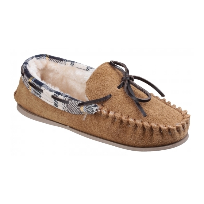 Cotswold KILKENNY Ladies Moccasin Slippers Tan