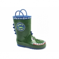 PUDDLE BOOT Boys Animal Wellington Boots Crocodile