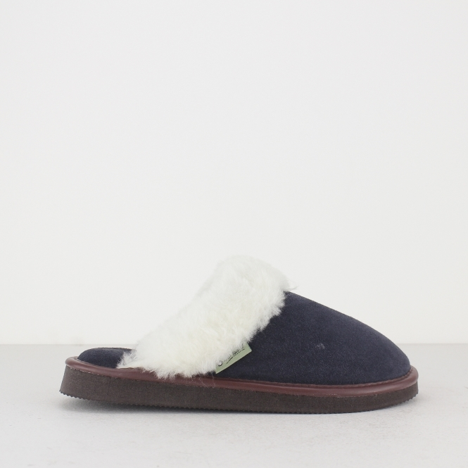 Cotswold RADWAY Ladies Mule Slippers Navy