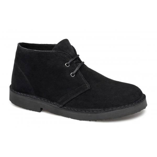 cotswold womens suede desert boots black