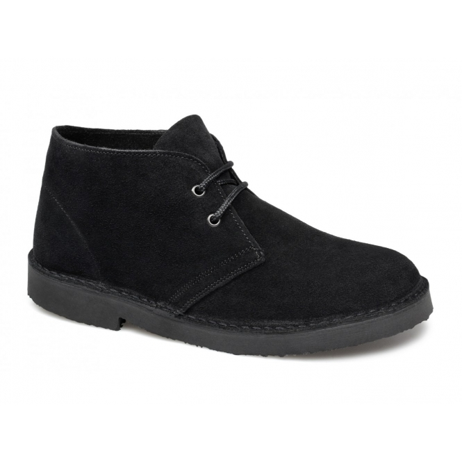 Cotswold SAHARA Ladies Suede Leather Desert Boots Black